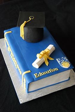 Textbook Celebration Graduation Cake