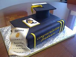 Diploma Drape Graduation Cake
