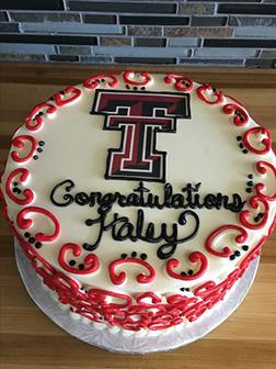 Classic University Logo Graduation Cake