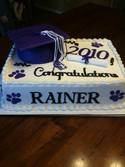 Classic Graduation Sheet Cake