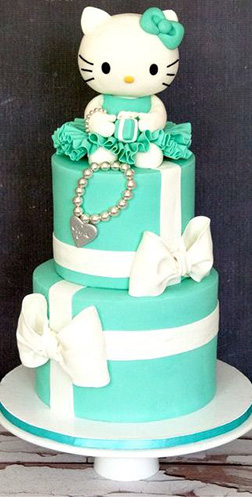Tiffany Hello Kitty Cake