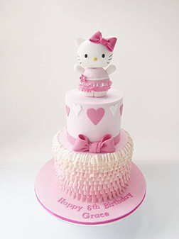 Pastel Pink Hello Kitty Stack Cake