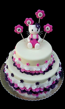 Elegant Tiered Hello Kitty Cake