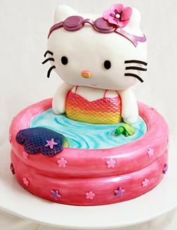 Hello Kitty Mermaid Mashup Cake