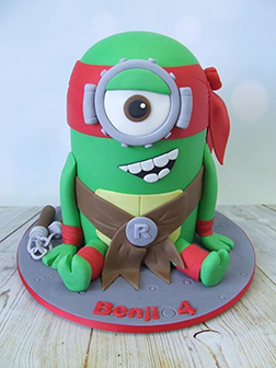 Teenage Mutant Ninja Turtles Minion Mashup Cake
