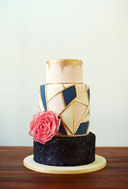 Modern Stained Glass Wedding Cake