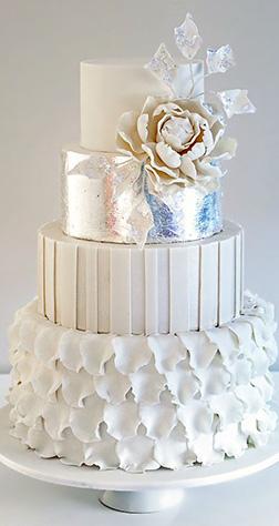 Ruffled Stack Wedding Cake