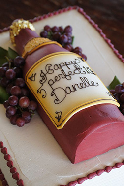 Red Wine Fresh from the Vine Cake