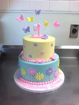 Pastel Pop Butterfly Cake