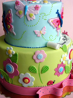Vibrant Stack Butterfly Cake
