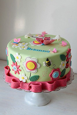 Floral Spring Butterfly Cake