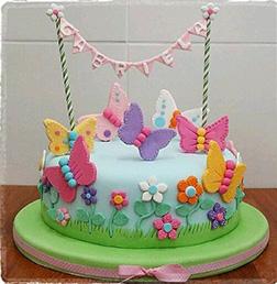 Wild Flower Butterfly Cake