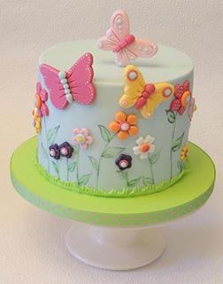 Springtime Butterfly Cake