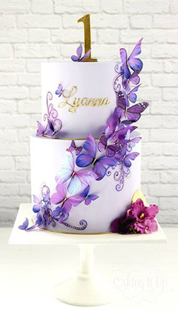 Lavender Butterfly Cake