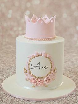 Pink Princess Christening Cake