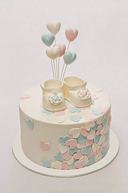 Little Booties Baby Shower Cake