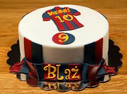 Messi Jersey Cake