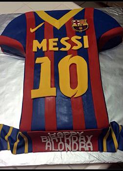 Messi Nike Jersey Cake