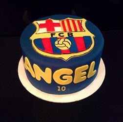 Messi FC Barcelona Cake