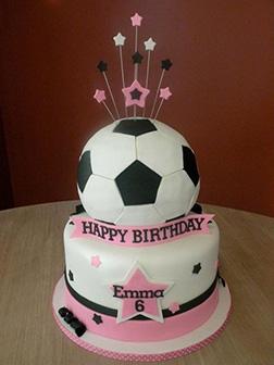 Soccer Pink Starburst Cake