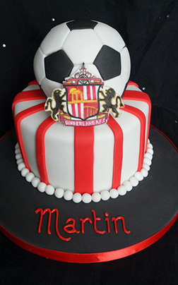 Sunderland Football Stripe Cake