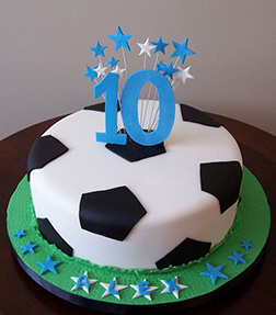 Football/Soccer Ball Cylinder Cake