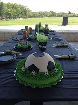 Football/Soccer Ball Grass Stains Cake