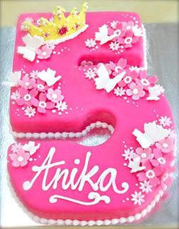 Pink Princess Number Cake