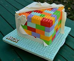 Lego Under Wraps Birthday Cake