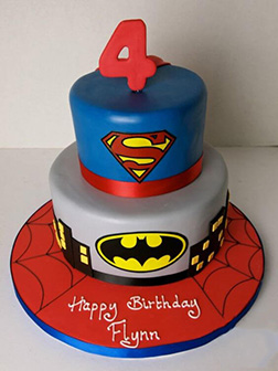 Superheroes Collide: DC vs Marvel Birthday Cake