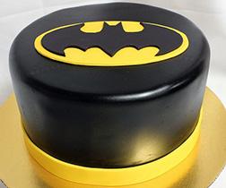 Batman Black and Gold Cake
