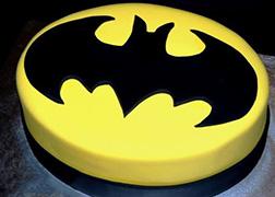 Classic Batman Symbol Cake