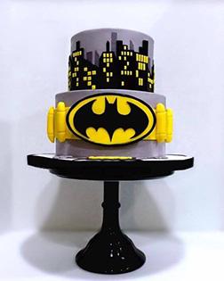 Gotham City Utility Belt Cake