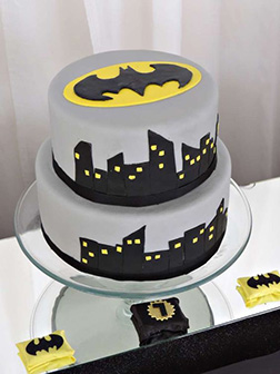 Batman Gotham City Streets Tiered Cake