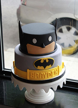 Funny Block Batman Cake