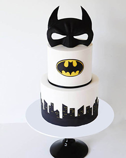 Batman Cowl Birthday Cake