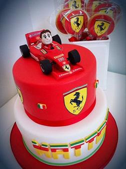 Tiered Ferrari F1 Cake