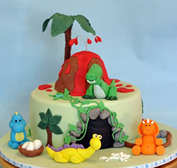 Cutesy Dino Cake