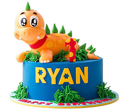 First Birthday Dinosaur Cake 2