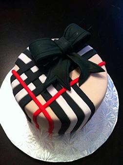 Black Bow Burberry Cake