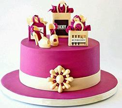 Pink Shopaholics Cake