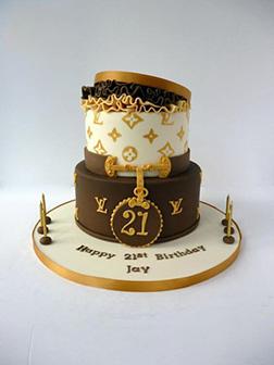 Louis Vuitton Giftbox Cake 3