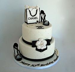 Chanel Shoes & Shopping Bag Cake