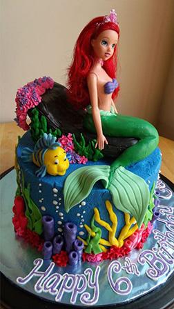 Ariel Doll Cake 3