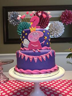 Peppa Pig Fairy Princess Cake 3