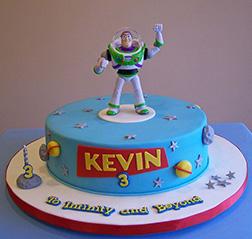 Buzz Figurine Birthday Cake