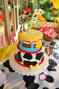 Hat Tipping Jessie Tiered Cake