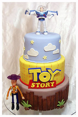 Buzz and Woody Figurine Cake