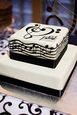 Musical Notes Cake 3