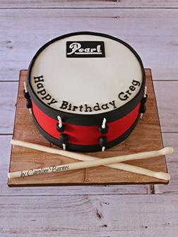 Pearl Drum Cake
